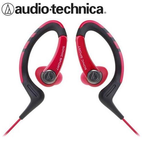 鐵三角 ATH-SPORT1 防水運動型耳掛耳塞式耳機 紅