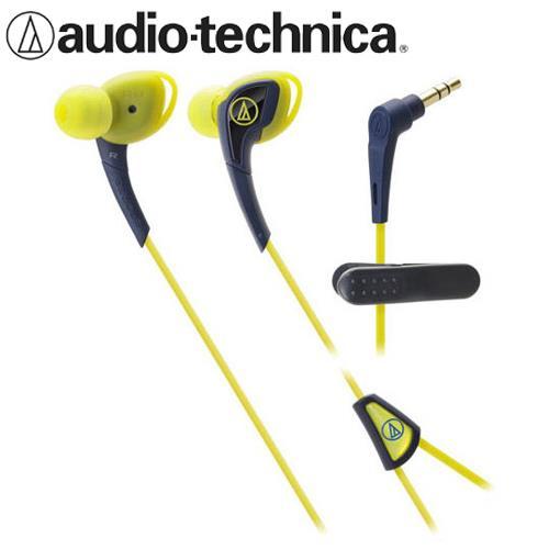 鐵三角 ATH-SPORT2 防水運動型耳塞式耳機 深藍黃