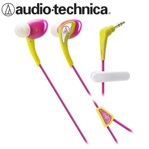 鐵三角 ATH-SPORT2 防水運動型耳塞式耳機 黃粉