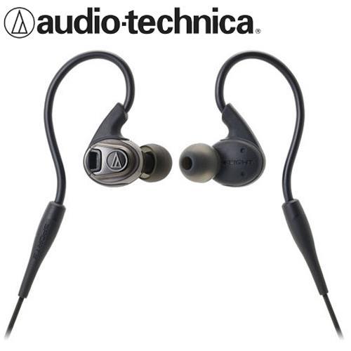 audio-technica鐵三角 ATH-SPORT3 防水運動耳塞式耳機 黑
