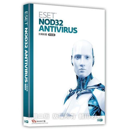 【ESET NOD32】Antivirus 防毒軟體 (單機1年版)(盒裝)