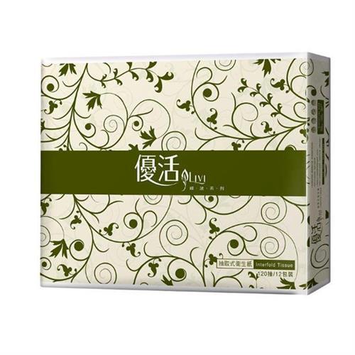 【量販組】Livi優活 抽取式衛生紙 120抽x12包x6串/箱
