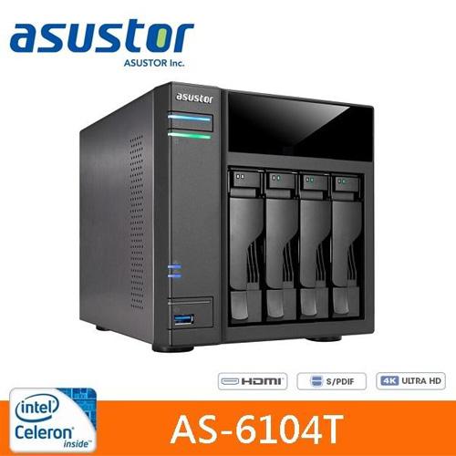 ASUSTOR 華芸 AS-6104T 4Bay 網路儲存伺服器