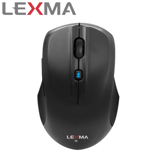 LEXMA 雷馬 M820R 無線藍光滑鼠 黑