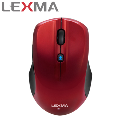 LEXMA 雷馬 M820R 無線藍光滑鼠 紅