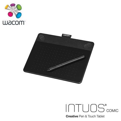 【網購獨享優惠】Wacom Intuos Comic動漫創意觸控繪圖板-黑(小)送微軟鍵盤~3/31