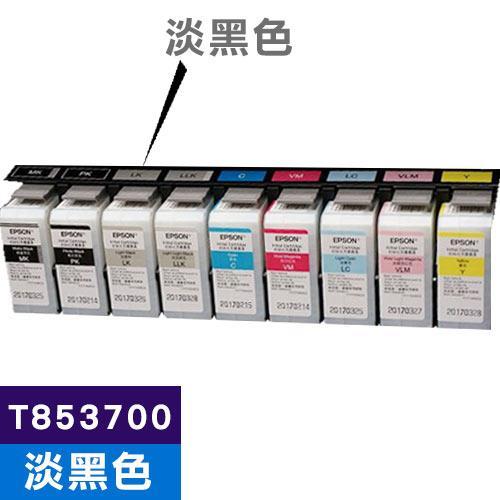 EPSON 原廠墨水匣 T853700 淡黑色 (SC-P807適用)