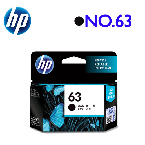 HP NO.63/F6U62AA 原廠墨水匣 (黑)
