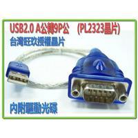 i-wiz USB2.0 A公轉9P公 串列RS232傳輸線 (PL2303)