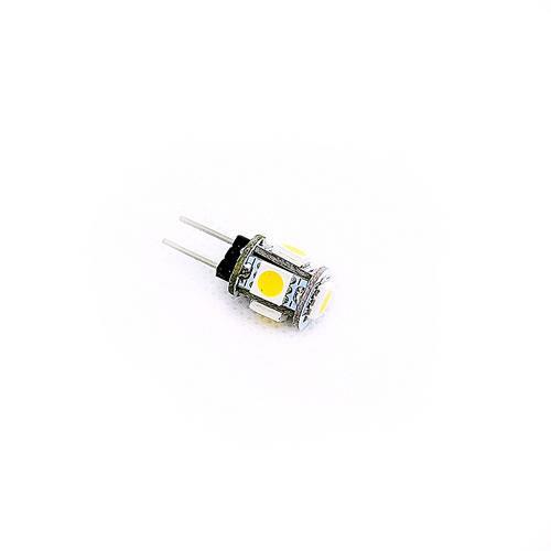 G4 5050 5燈LED 暖白光 AC/DC12V(2PCS/卡)