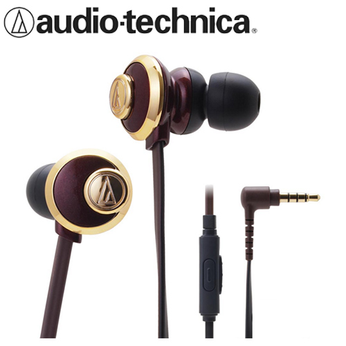 audio-technica 鐵三角 CKF77is 耳塞耳機麥克風 棕