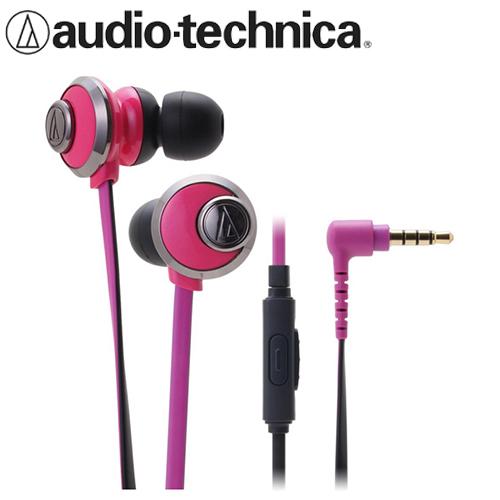 audio-technica 鐵三角 CKF77is 耳塞耳機麥克風 粉