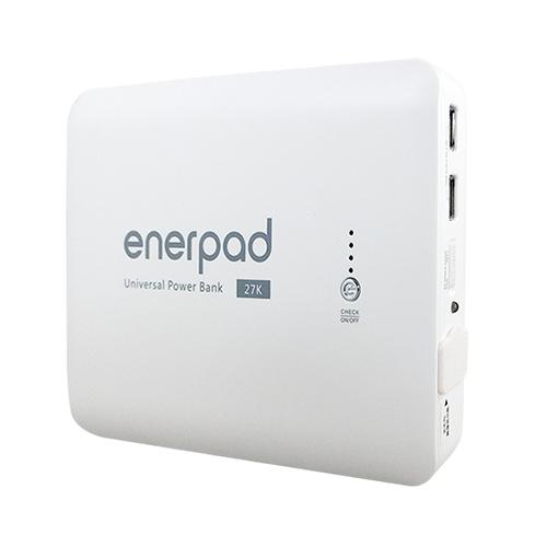 enerpad 攜帶式直流電 / 交流電行動電源 AC27KW 白色