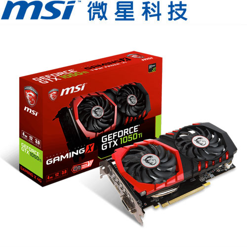 MSI微星 GeForce® GTX 1050 Ti GAMING X 4G 顯示卡