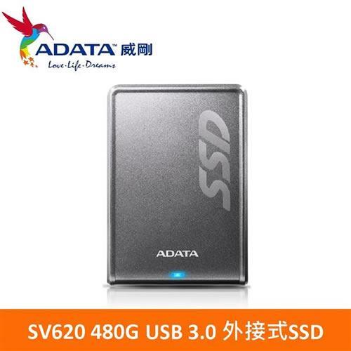 ADATA威剛 SV620 480GB(鈦) USB3.0 外接式SSD行動硬碟