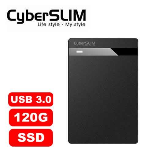 CyberSLIM V25U3  120G 外接式SSD 行動硬碟-黑