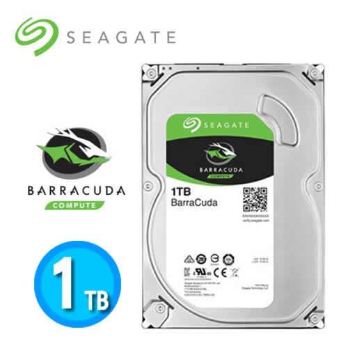 Seagate Barracuda Desktop HDD 3.5吋 SATA3 1TB桌上型硬碟【下殺100↘限量10顆】