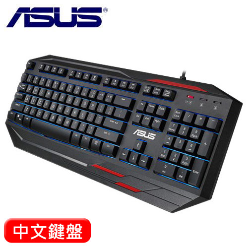 ASUS 華碩 GK100 薄膜式電競鍵盤