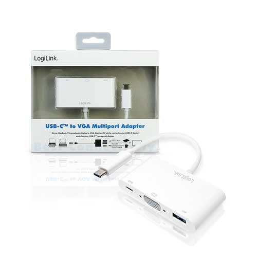UA0260 USB Type-C轉VGA多功能訊號轉換器