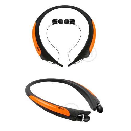 LG HBS850 防汗防潑水運動藍牙耳麥-橘色