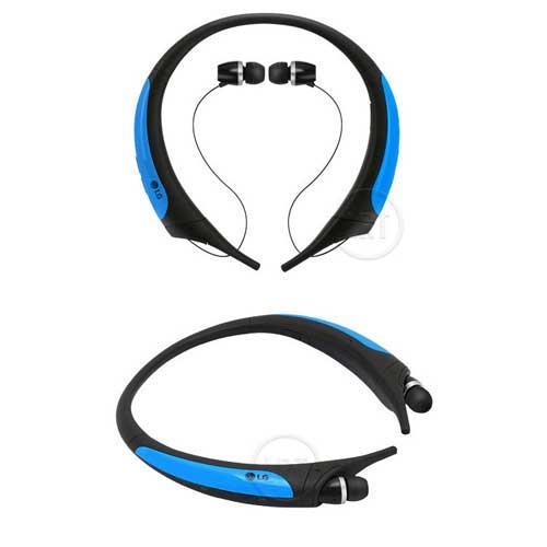 【網購獨享優惠】LG HBS850 防汗防潑水運動藍牙耳麥-藍色