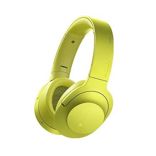 SONY頭戴式藍牙抗噪耳麥MDR-100ABN-Y黃色