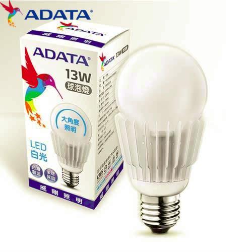 ADATA威剛13W大角度LED球燈泡-白光