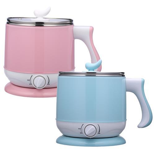 【晶工牌】2.2公升多功能美食鍋/不鏽鋼電碗 JK-301(B藍色)