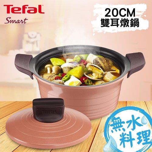 【Tefal法國特福】御釜鑄造系列20CM雙耳燉鍋(附鑄造鍋蓋及矽膠隔熱手套)