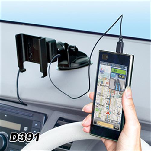 日本SEIWA 吸盤式手機架+伸縮線充電組 D391 1A+2.1A