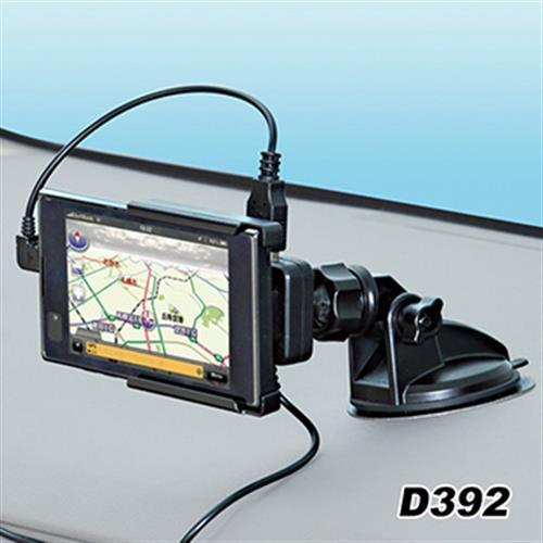 日本SEIWA 吸盤式手機架+充電器組 D392 1A+2.1A