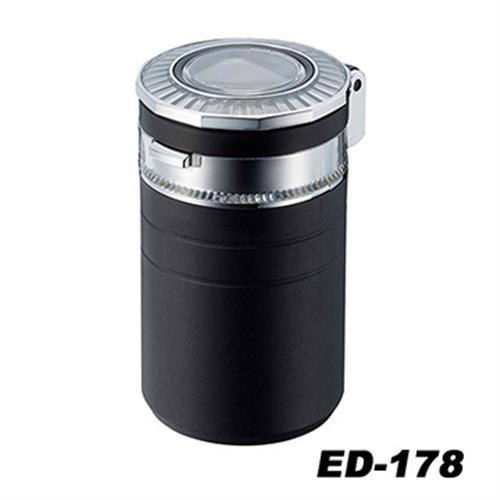 日本SEIKOSANGYO 太陽能五彩LED煙灰缸(黑) ED-178