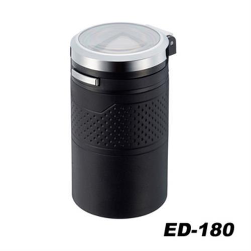 日本SEIKOSANGYO 太陽能夜間感應式 LED煙灰缸(黑) ED-180