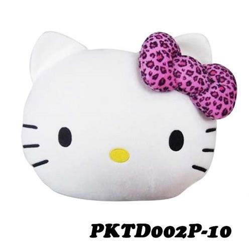 Hello Kitty 豹紋系列 頭型抱枕被 PKTD002P-10