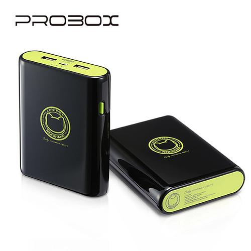 PROBOX 13400mAh Contrast撞色系列行動電源-黑色 HE7-13400-BK