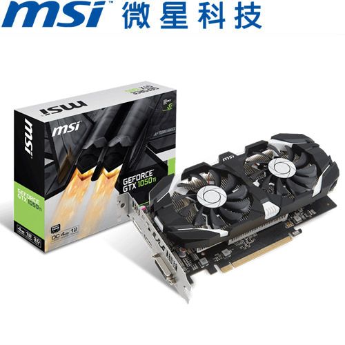 MSI微星 GeForce GTX 1050 TI 4GT OC 顯示卡