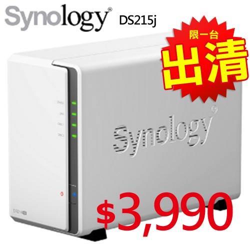 【限時搶購】Synology 群暉 DS215j 2Bay 網路儲存伺服器
