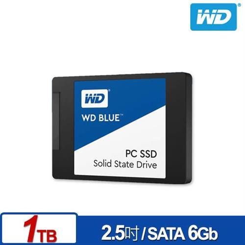 WD SSD 1TB 2.5吋固態硬碟(藍標)【送旅行收納袋三件組】