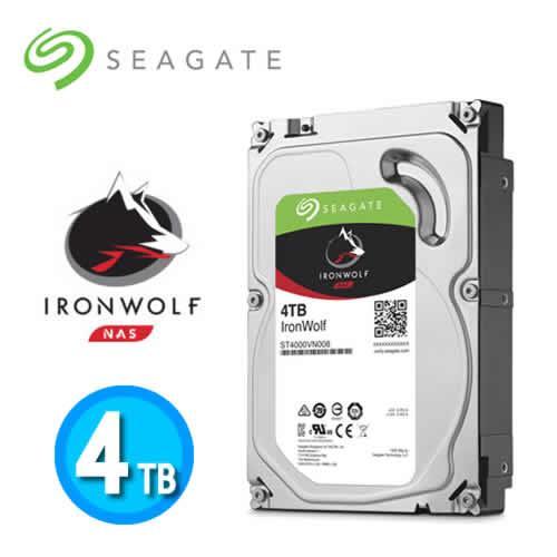 Seagate IronWolf 3.5吋 4TB NAS專用硬碟 (NAS HDD)【下殺100↘送防毒軟體一年版】