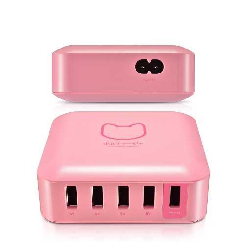 PROBOX QC2.0 5埠USB高性能 充電器-粉色