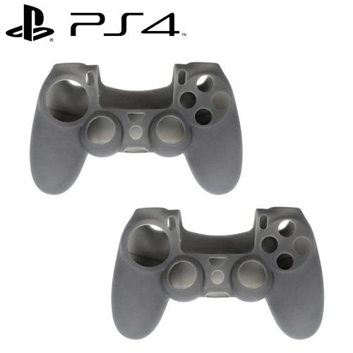 PS4 DUALSHOCK 4 無線控制器專屬果凍套 霧黑 二入組