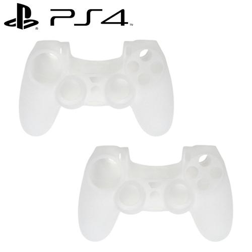 PS4 DUALSHOCK 4 無線控制器專屬果凍套 透白 二入組