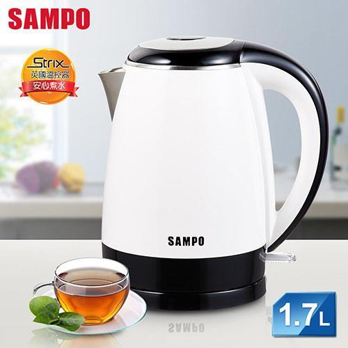 【SAMPO聲寶】1.7L不鏽鋼快煮壺KP-PA17D