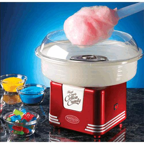美國NOSTALGIA棉花糖機最新款PCM405經典紅