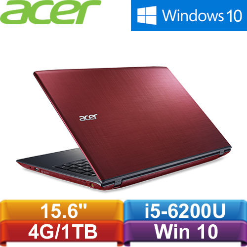 【福利品】宏碁 Aspire E5-575G-530T 15.6吋筆記型電腦紅