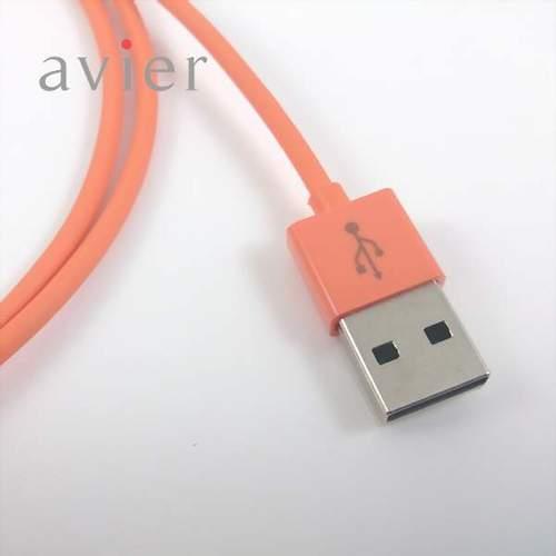 【avier】Micro USB充電傳輸線 1M (果凍橘)