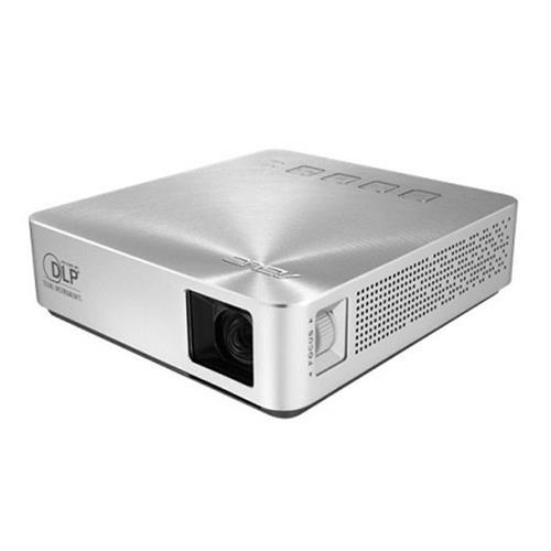 華碩 S1 200光可攜式LED投影機-銀色