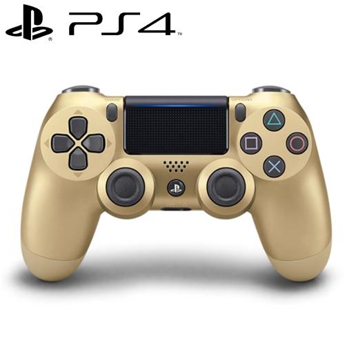 PS4 原廠 DS4 光條觸碰板 無線震動手把 金色 CUH-ZCT2G14