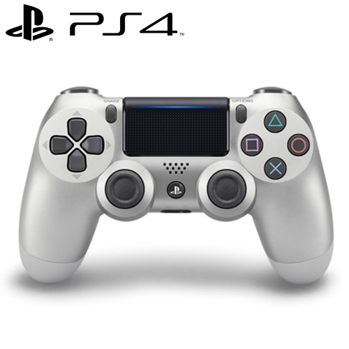 PS4 原廠 DS4 光條觸碰板 無線震動手把 銀色 CUH-ZCT2G15