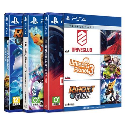 【客訂品】PS4遊戲 三重包3 (駕駛俱樂部+小大3+拉捷特與克拉克)